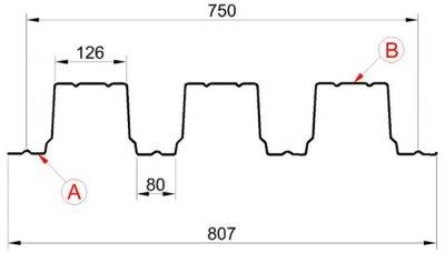 Профилированный лист Н-114х750